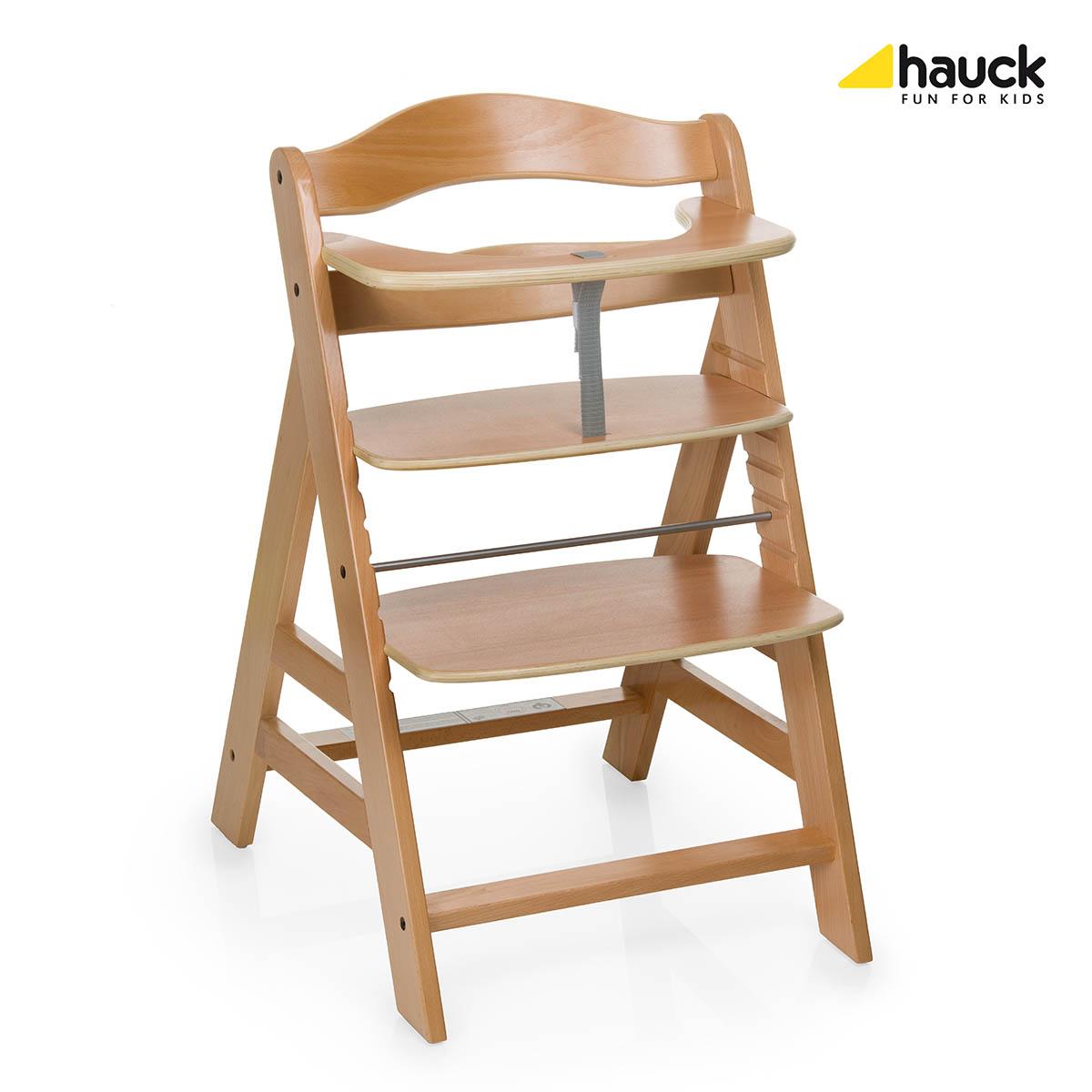 Hauck Alpha + barošanas krēsls - Natur