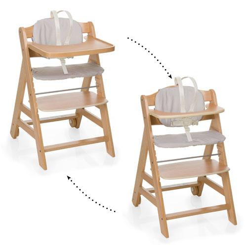 Hauck Beta+ koka barošanas krēsls - Nature