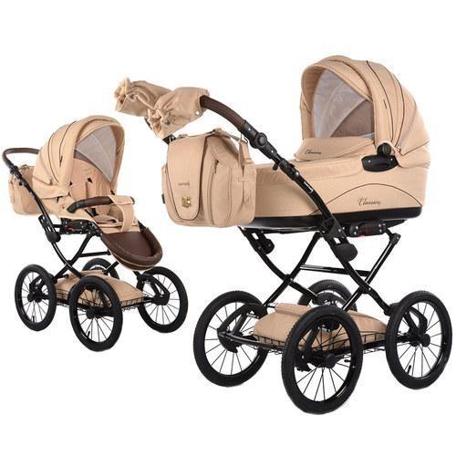 Knorr Baby Classico kombinētie rati - Creme