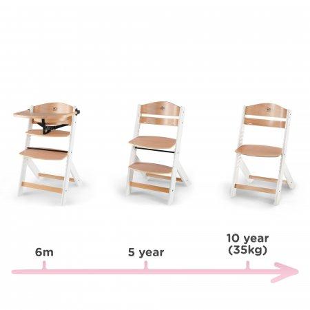 Kinderkraft  ENOCK koka barošanas krēsliņš, koks