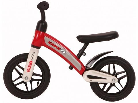 SCHUMACHER IMPACT Balansēšanas velosipēdus ar piepūšamajiem riteņiem SARKANS