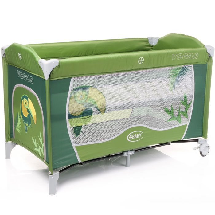4Baby Vegas New ceļojumu gultiņa - zaļa