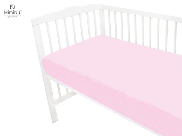 Miminu džersija palags 120x60cm, gaiši rozā