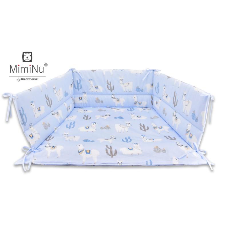 Miminu gultas apmalīte 180cm, Zilās lamas