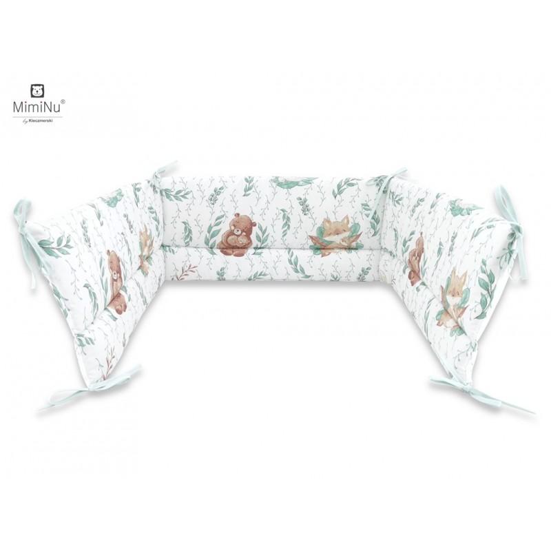 Miminu gultas apmalīte 360cm, Lācēns/ zaļās lapas