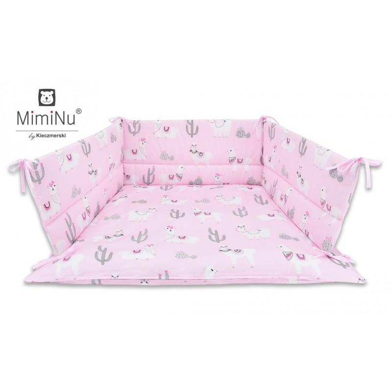 Ankras gultas apmalīte 180cm, Rozā lamas