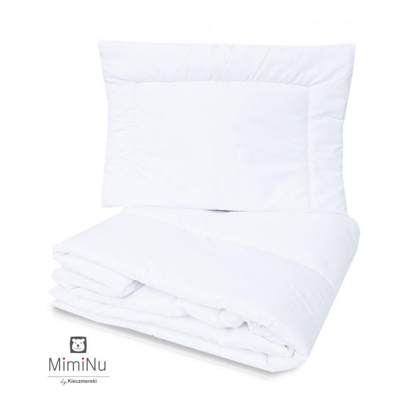 Miminu sega un spilvens/ komplekts, 120x90 cm, balts